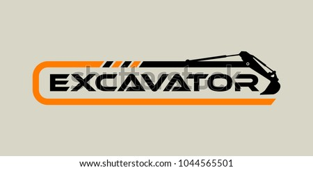 Excavator Vector Logo Template. construction, vector illustration