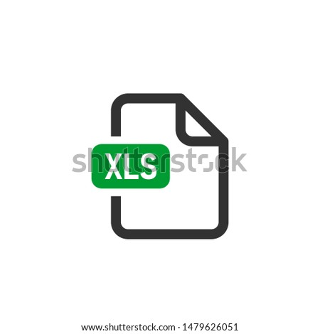 Excel document file format. Download and save icon. Web doc pictogram. Vector illuatration on white background.