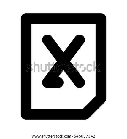 Excel File Vector Icon