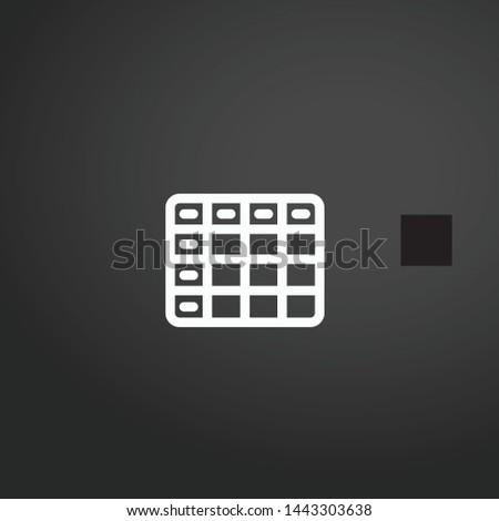 Excel vector icon. Excel concept stroke symbol design. Thin graphic elements vector illustration, outline pattern for your web site design, logo, UI. EPS 10.