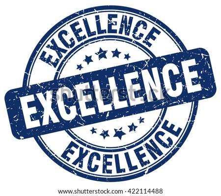 excellence blue grunge round