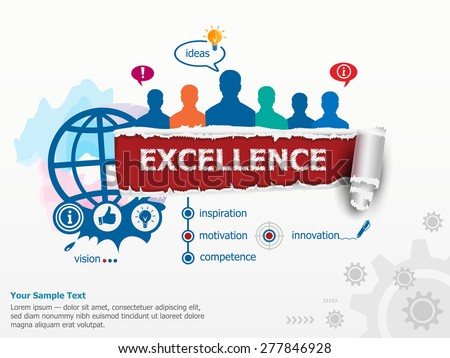 excellence concept and group of