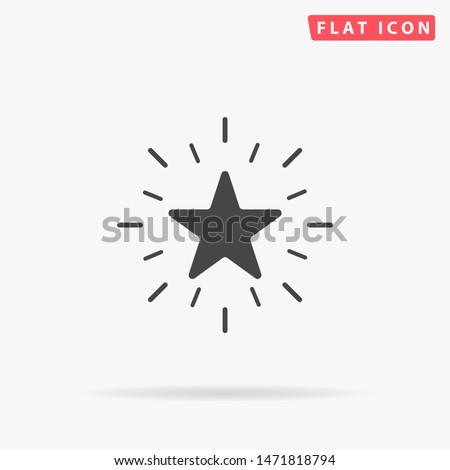 Excellence. Excellent quality star. Flat design style minimal vector illustration icon for web design
