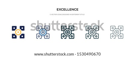 excellence icon in different style vector illustration. two colored and black excellence vector icons designed in filled, outline, line and stroke style can be used for web, mobile, ui