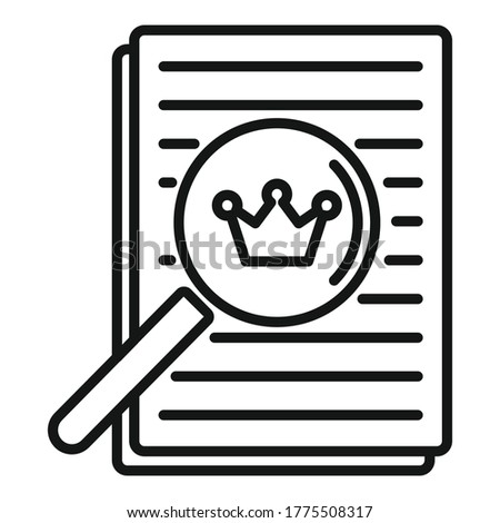 Excellence paper report icon. Outline excellence paper report vector icon for web design isolated on white background