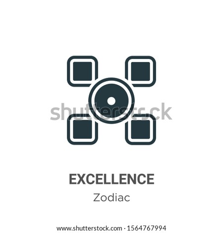 Excellence vector icon on white background. Flat vector excellence icon symbol sign from modern zodiac collection for mobile concept and web apps design.