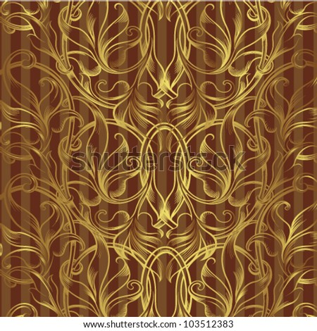 excellent flower background gold in a strip