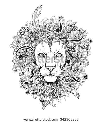 excellent lion graphic style