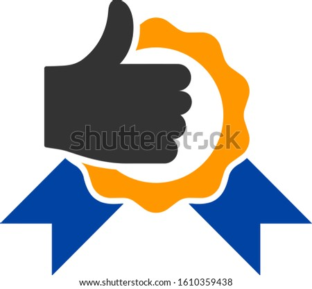 Excellent vector icon. Flat Excellent symbol is isolated on a white background.