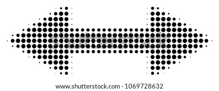 exchange arrows halftone vector