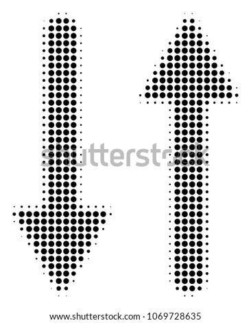 exchange arrows halftone vector