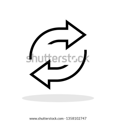 Exchange icon in trendy flat style. Reverse symbol for your web site design, logo, app, UI Vector EPS 10.  Photo stock ©