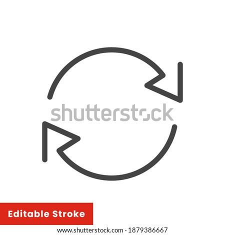 Exchange trade icon, return or swap, swap cycle, thin line web symbol on white background - editable stroke vector illustration eps10 Photo stock ©