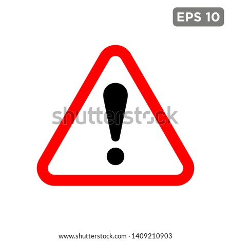 exclamation - caution icon vector design template #1409210903