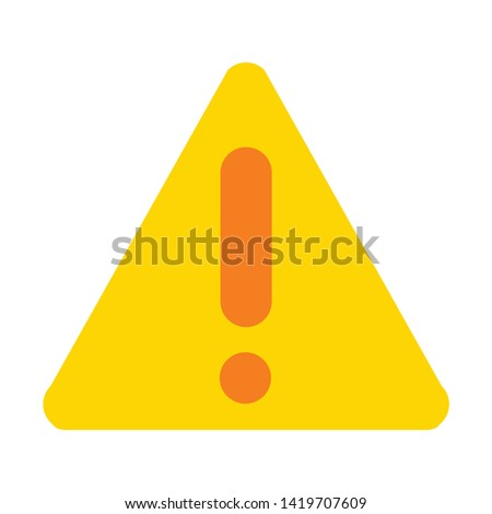 Exclamation danger icon. flat illustration of Exclamation danger vector icon for web