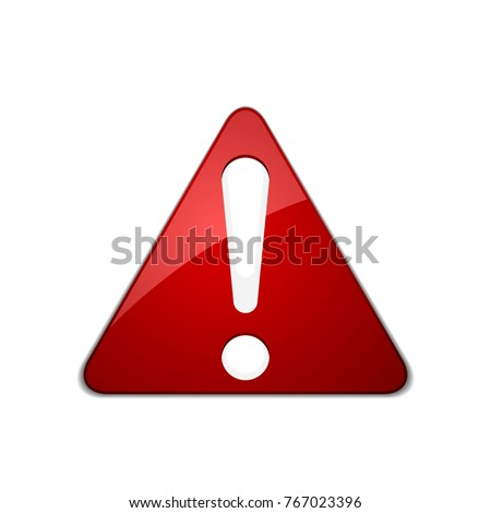 Exclamation Danger sign illustration #767023396