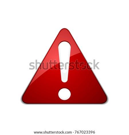 Exclamation Danger sign illustration #767023396