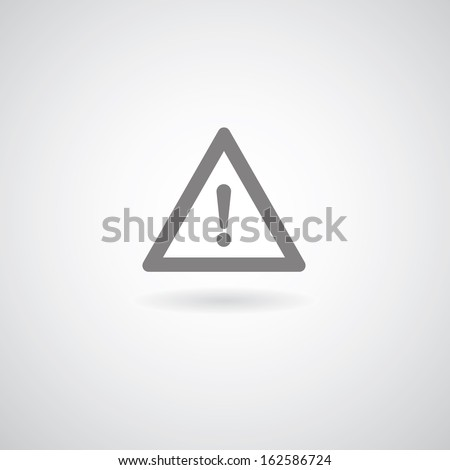 Exclamation danger sign on gray background