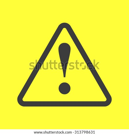 exclamation danger sign on