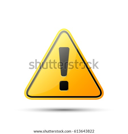 exclamation danger sign  vector ...