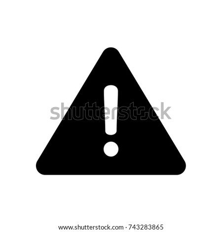 Exclamation Icon, Exclamation icon vector, in trendy flat style isolated on white background. Exclamation icon image, Exclamation icon illustration
