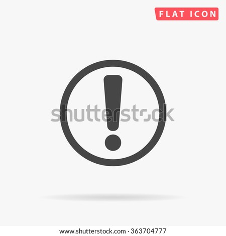 Exclamation Icon Vector. Simple flat symbol. Perfect Black pictogram illustration on white background.