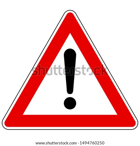 Exclamation mark and attention sign on white Photo stock ©
