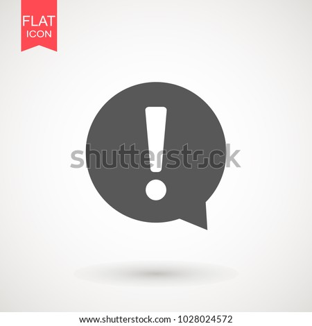 Exclamation mark. Exclamation mark. Hazard warning symbol. Flat design style. Vector EPS 10