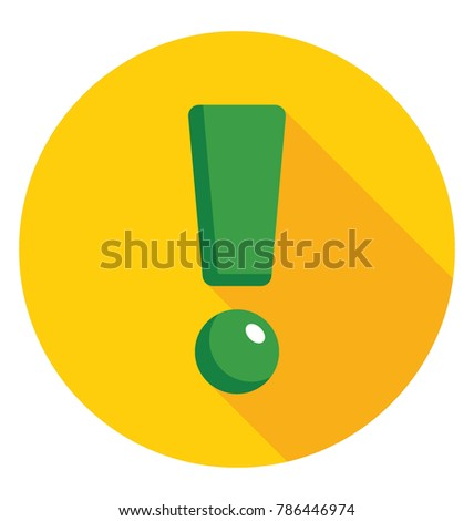 Exclamation Mark Flat Colored Icon
