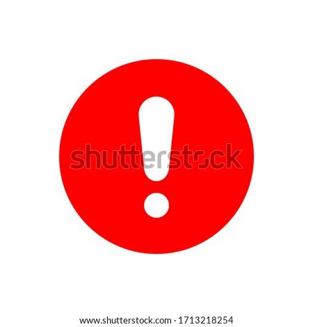 Exclamation mark flat design icon Stock photo ©