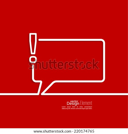 Exclamation mark icon Attention sign icon Hazard warning symbol in red background vector Speech Bubbles and Chat symbol