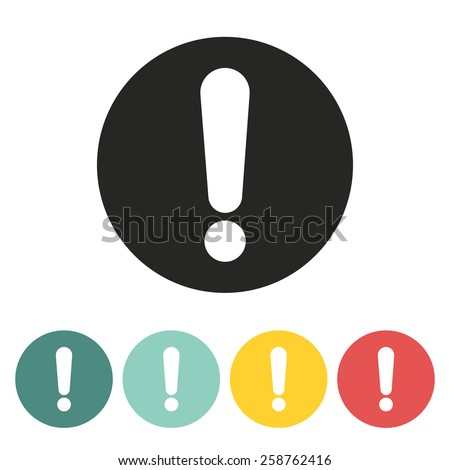 Exclamation mark icon.Vector illustration.