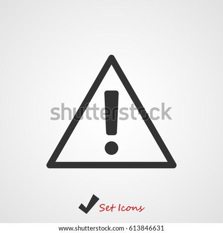 exclamation mark icon, vector illustration. Flat design eps 10