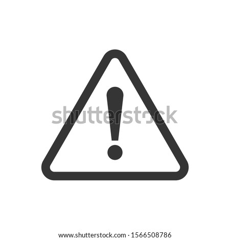 Exclamation mark isolated. Black vector Attention caution sign. Flat warning symbol.