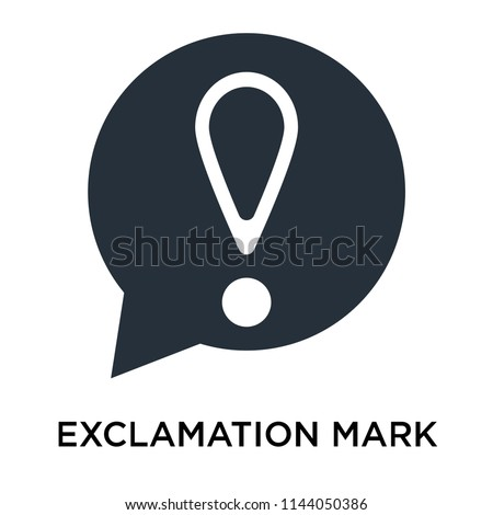 Exclamation mark sign icon vector isolated on white background for your web and mobile app design, Exclamation mark sign logo concept