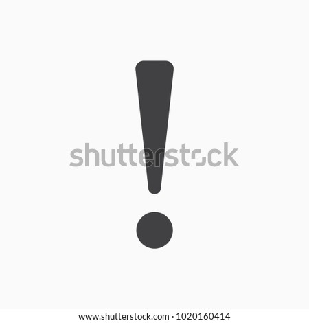 exclamation point icon illustration isolated vector sign symbol
