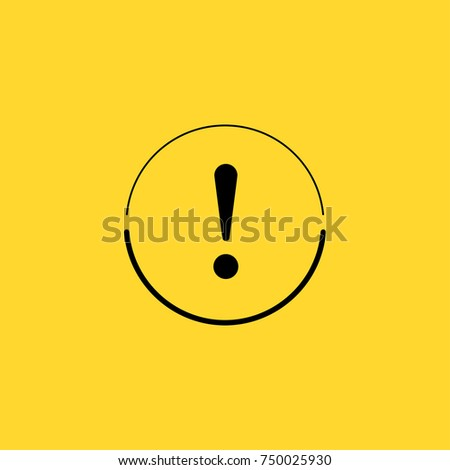 Exclamation point line vector icon