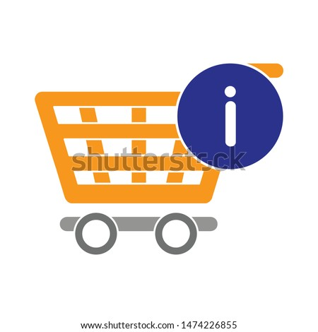 exclamation shopping cart icon. flat illustration of exclamation shopping cart vector icon. exclamation shopping cart sign symbol