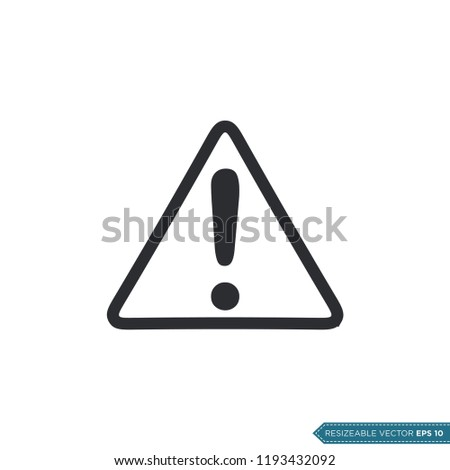 Exclamation Sign Icon Vector Template