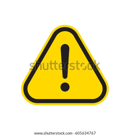Exclamation sign vector #605634767