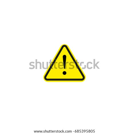Exclamation sign vector