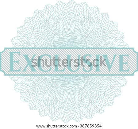 Exclusive abstract rosette