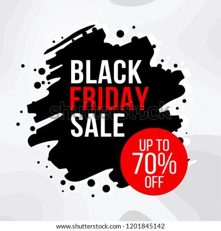 Exclusive Black Friday sale flat vector illustration