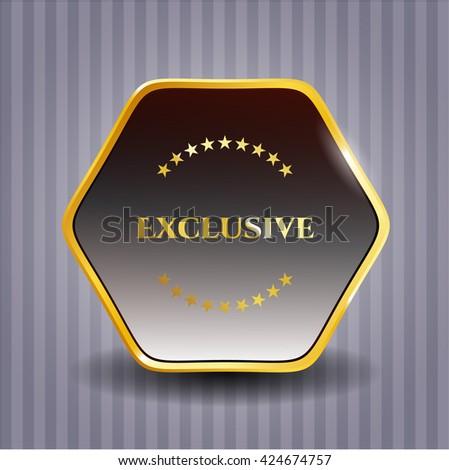 Exclusive gold badge