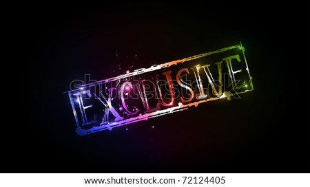 Exclusive Text Exclusive grunge colorful text