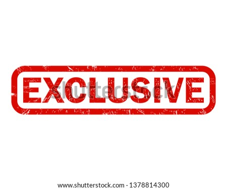 exclusive. grunge vintage exclusive square stamp. exclusive stamp. Foto stock ©