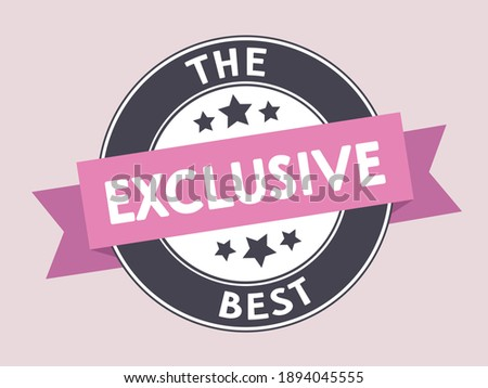 exclusive icon symbol pink the best label Photo stock ©
