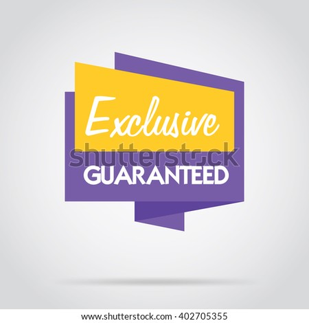 Exclusive offer flat abstract isolated vector banner