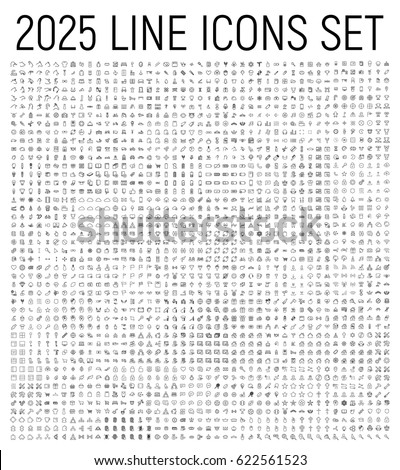 Exclusive 2025 thin line icons set. Big package of modern minimalistic pictograms for mobile UI/UX kit, infographics and web sites. High quality logistics, cruise, contact, cinema and other signs