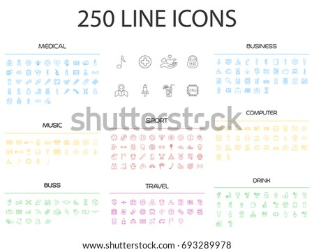 exclusive thin line icons xxl